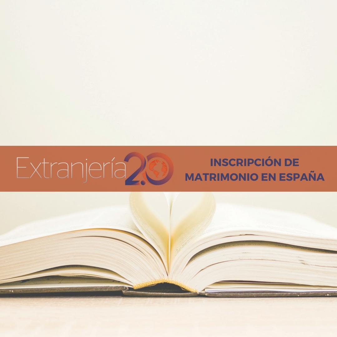 Inscripción de Matrimonio - Extranjería e Inmigración: